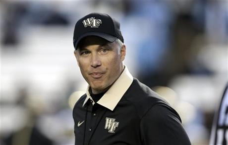 Dave Clawson had Wake Forest in a bowl game again last year, following it up again this year will be tough.